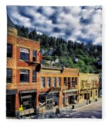 Historic Deadwood Fleece Blanket