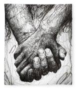 Holding Hands Fleece Blanket