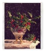 Holly And Berries Fleece Blanket