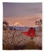 Hood River Sunrise Fleece Blanket