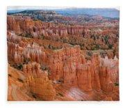 Hoodoo Rock Formations In A Canyon Fleece Blanket