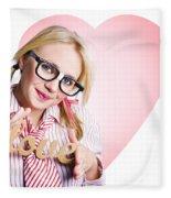 Hopeless Romantic Girl Showing Signs Of Love Fleece Blanket