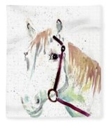 Horse Study Fleece Blanket