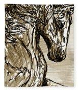 Horse Twins I Fleece Blanket
