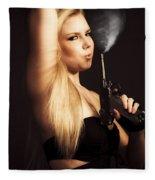 Hot Shot Woman Fleece Blanket