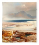 Hot Springs Of Yellowstone Fleece Blanket