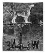 Hound Dog Weather Vane Fleece Blanket