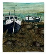 House Boats Fleece Blanket