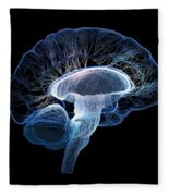 Human Brain Complexity Fleece Blanket