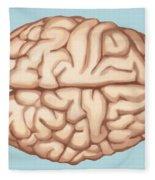 Human Brain Fleece Blanket