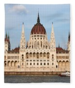 Hungarian Parliament Building In Budapest Fleece Blanket