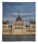 Hungarian Parliament Building Afternoon Fleece Blanket