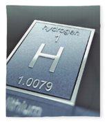 Hydrogen Chemical Element Fleece Blanket