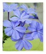 I Love Blue Flowers Fleece Blanket