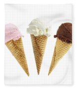Ice Cream In Sugar Cones Fleece Blanket