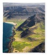 Iceland Plateau Mountains Fleece Blanket