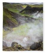 Iceland Steam Valley Fleece Blanket