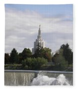 Idaho Falls Temple Fleece Blanket