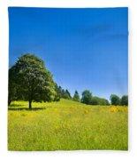 Idyllic Landscape Fleece Blanket