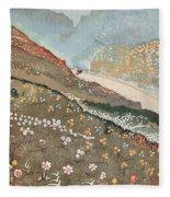 Illustration For Kim By Rudyard Kipling Fleece Blanket