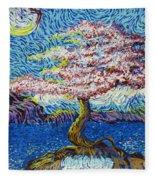 In The Flow Of Life Fleece Blanket