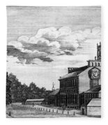 Independence Hall, 1778 Fleece Blanket