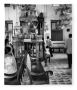 Inside The Historic Jewish Synagogue In Cochin Fleece Blanket