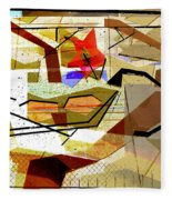 Interstate 10- Exit Out West- Where Life Begins New- Rectangle Remix Fleece Blanket