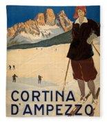 Italian Travel Poster Fleece Blanket