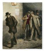 Jack The Ripper Fleece Blanket