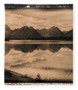 Jackson Lake Wyoming Fleece Blanket