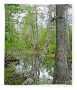 Jean Lafitte Swamp Fleece Blanket