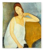 Jeanne Hebuterne Fleece Blanket
