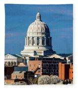 Jefferson City - Missouri - Missouri Fleece Blanket