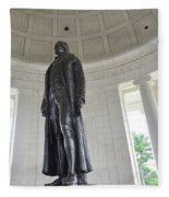 Jefferson Memorial # 6 Fleece Blanket