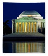 Jefferson Memorial At Night Fleece Blanket