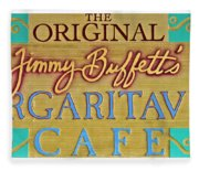 Jimmy Buffetts Margaritaville Cafe Sign The Original Fleece Blanket