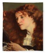 Jo The Beautiful Irish Girl Fleece Blanket