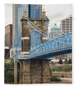 John Roebling Bridge 1867 Fleece Blanket
