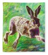 Joyful Hare Fleece Blanket