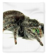Jumping Spider Fleece Blanket