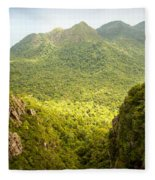 Jungle Landscape Fleece Blanket