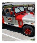 Jurassic Park Jeeps Fleece Blanket