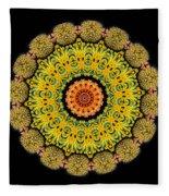 Kaleidoscope Ernst Haeckl Sea Life Series Triptych Fleece Blanket
