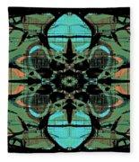 Kaleidoscope Flower 4 Fleece Blanket