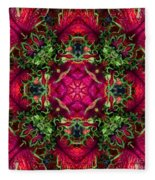 Kaleidoscope Made From An Image Of A Coleus Plant Fleece Blanket