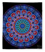 Kaleidoscope Stained Glass Window Series Fleece Blanket