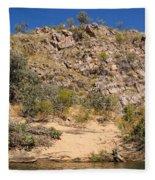 Katherine Gorge Landscapes Fleece Blanket