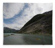 Kayaking To The Nigardsbreen Glacier Fleece Blanket