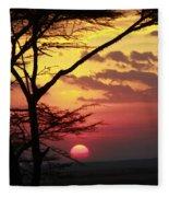 Kenyan Sunset Fleece Blanket